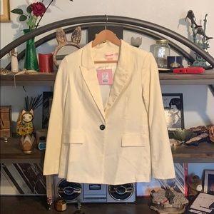Showpo white linen blazer